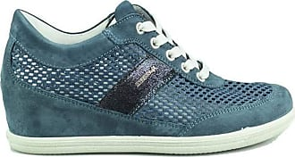 Igi & Co Womens Mesh Suede Jeans Sneaker Blue Size: 5 UK