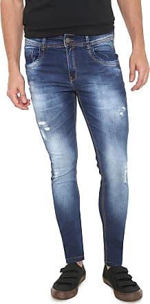 Zune Jeans Calça Jeans Zune Skinny Estonada Azul