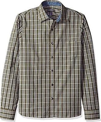 Van Heusen Mens Never Tuck Slim Fit Shirt,Olive Kalamata Green,Small
