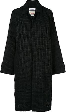 Tweed mantel blau
