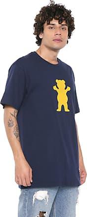 Grizzly Camiseta Grizzly Og Bear Logo Azul-marinho