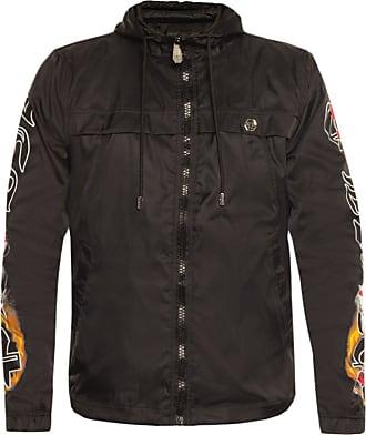 Philipp Plein Jacket With Logo Mens Black