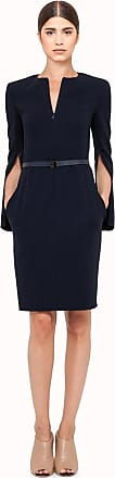 Akris Round neck dress in wool double face