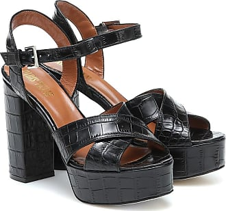 PARIS TEXAS Leather platform sandals