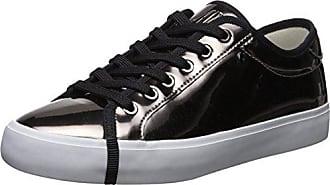 A|X Armani Exchange Womens Metallic Low Cut Sneaker, Gun, 10 Medium US