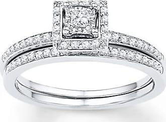 6f085a94f62f08 Kay Jewelers Diamond Bridal Set 1/4 ct tw Princess-cut 10K White Gold