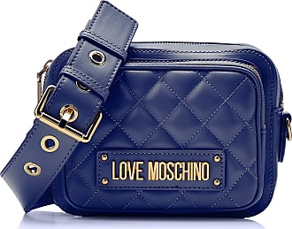 Love Moschino Womens Quilted Nappa Pu Messenger Bag, Blue (Blu), 15x10x15 Centimeters (W x H x L)