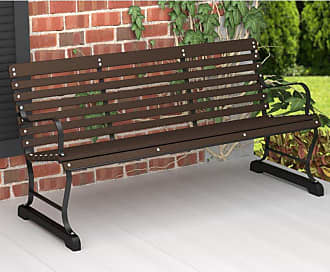 POLYWOOD Outdoor POLYWOOD Ivy Terrace Recycled Plastic 5 ft. Bench - Black Frame Hunter Green Seat - IVB60FBLGR