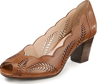 Gerry Weber Lambskin nappa leather Peep-toe shoes Lotta Gerry Weber brown