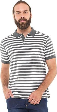 Yachtsman Camisa Polo Yachtsman Reta Listrada Cinza/Branca