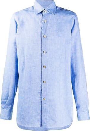 Kiton Klassisches Leinenhemd - Blau