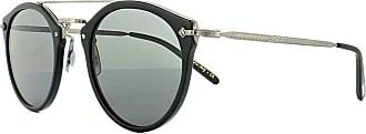 Oliver Peoples OV5349S 146587 Semi Matte Black Remick Round Sunglasses Lens Cat