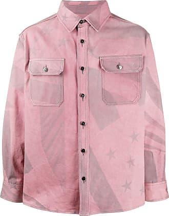 424 Jeansjacke mit Sterne-Print - Rosa