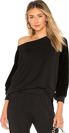 Velvet Westine Velvet Sweatshirt in Black