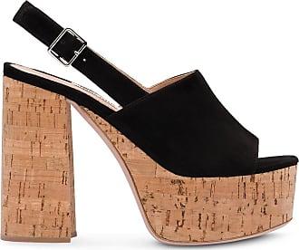 Miu Miu suede platform sandals - Preto