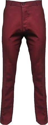 Relco Mens Stay Press Burgundy Tonic Trousers Two Tone Sta Prest Retro Mod Skin, 40