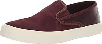 Sperry Top-Sider Mens Captains Slip On Leather Sneaker, Burgundy, 9 M US
