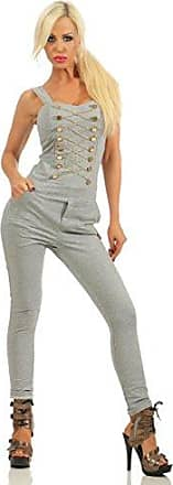 Damen Jeans Overall Jumpsuit Skinny Fit Hosenanzug Einteiler Used Stretch Röhre