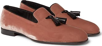 Tom Ford William Leather-trimmed Velvet Tasselled Loafers - Pink