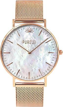 Purelei Pearl Rose Gold Mesh Uhr