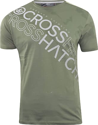 Crosshatch Mens T-Shirt Graphic Crew Neck Tee Top Concept Gradients(XXL,Olive)