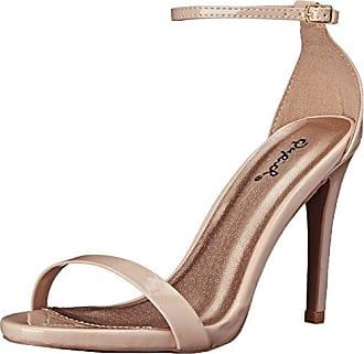 Qupid Womens Grammy-01 Dress Sandal Nude Patent- 6 B(M) US