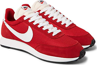 Nike Air Tailwind 79 Mesh, Suede And Leather Sneakers - Red