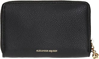 Alexander McQueen Logo-embossed Wallet Womens Black