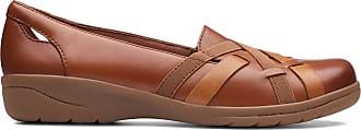 Clarks Womens Mahogany Leather Clarks Cheyn Creek Size 7.5