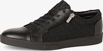 Calvin Klein Herren Sneaker mit Leder-Anteil schwarz
