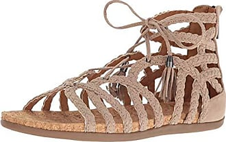 Kenneth Cole Reaction Womens Slim Loop Gladiator Sandal, Taupe, 8 M US