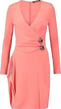7c6a1589e4 Roberto Cavalli Roberto Cavalli Woman Wrap-effect Embellished Stretch-jersey  Dress Blush Size 40