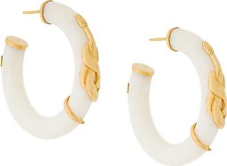 Gas Bijoux Cobra hoop earrings - Branco