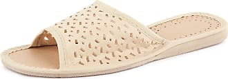 Ladeheid Women´s Eco Leather Shoes Slippers Flipflops LABR12 (Ecru, 6 UK)