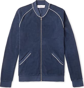Orlebar Brown + 007 A View To Kill Cotton-terry Zip-up Bomber Jacket - Navy