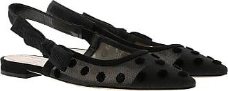 85decb12eb0953 Dior Jadior Slingback Flat Pumps Black Schuhe schwarz