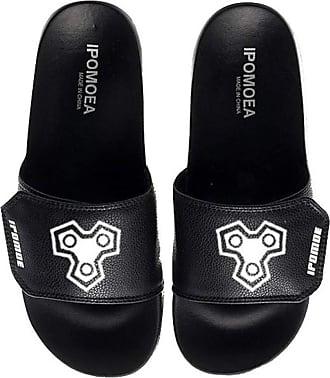 Cosstars Sword Art Online SAO Unisex Anime Slippers Open Toe Sandals Adjustable Hook and Loop 8 / Black 280 MM