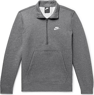 cb854fac8 Nike Sportswear Mélange Fleece-back Cotton-blend Half-zip Sweatshirt - Gray