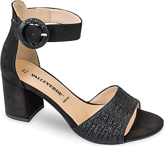 Valleverde 28230 Sandal Shoes High Heel Leather Woman Mary Jane Black Size: 5 UK