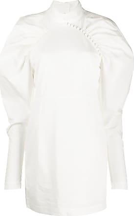Rotate Vestido com ombro estruturado e detalhe franzido - Branco