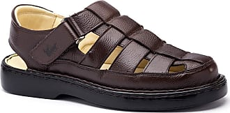 Doctor Shoes Antistaffa Sandália Masculina 321 em Couro Floater Café Doctor Shoes-38
