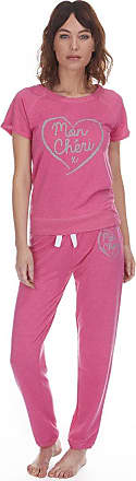 Forever Dreaming Ladies Womens Jersey Sweatshirt Joggers Lounge Set Top Bottoms Nightwear 2 Piece Pink