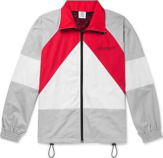 VETEMENTS Printed Colour-block Cotton Jacket - Gray