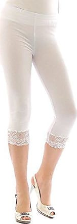 Mädchen Kinder Leggings Leggins Capri 3//4 Spitze Hose kurz Baumwolle