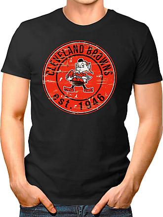 OM3 Cleveland-Badge - T-Shirt | Mens | American Football Shirt | L, Black