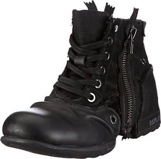 555161e5d70011 Replay Herren CLUTCH Biker Boots Schwarz (BLACK 3) 42 EU
