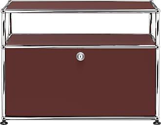USM Haller Container mit Klapptür - USM braun/77.3 x 56.5 x 37.3 cm/1 offenes Fach