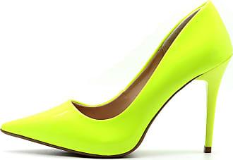 fcb17878b2 Royalz Scarpin Royalz Verniz Neon Fluorescente Penélope Amarelo Amarelo