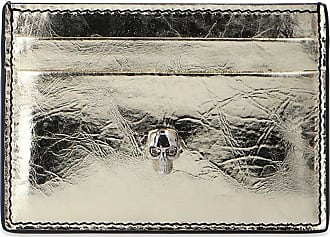 Alexander McQueen Card Holder Womens Gold