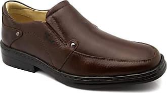 Doctor Shoes Antistaffa Sapato Masculino 910 em Couro Floater Café Doctor Shoes-Café-39